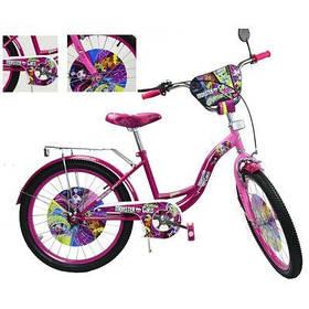 Велосипед 2-х колес 20'' 182006 (1шт) со звонком, зеркалом, руч.тормоз, без доп.колес