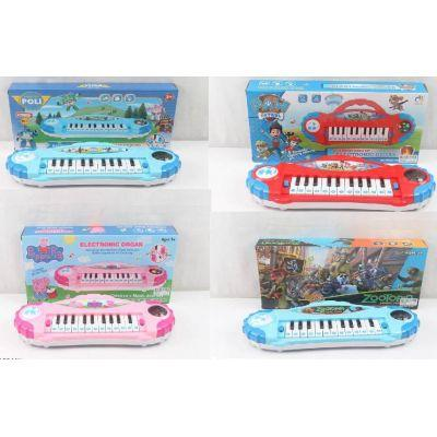 Орган-пианино 6889-144/5/6/7 (96шт/2)   микс видов  батар., муз., в коробке 37*17*6см