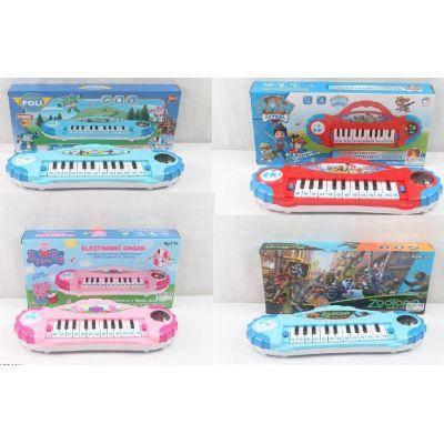 Орган-пианино 6889-144/5/6/7 (96шт/2)   микс видов  батар., муз., в коробке 37*17*6см, фото 2