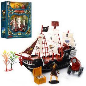 Набор пиратов 12603 корабль 26см, фигурка, пушка, сундук, в кор-ке 32.5-29-10см