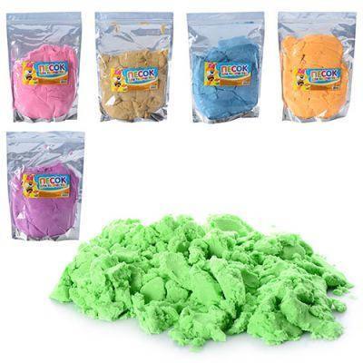 Песок для творчества MK 0468 6 цветов, 1000 г, в кульке 20-29-4см, фото 2