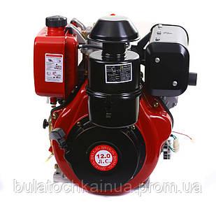 Двигун дизельний Weima WM188FBE (вал під шпонку) 12 л. с. ел.старт, знімний циліндр