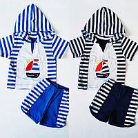 Детский летний  комплект для мальчика футболка и шорты, фото 1