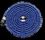 Компактный растягивающийся садовый шланг для полива MAGIC HOSE 15m синий + наушники, фото 7