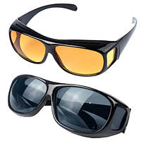 Антибликовые очки для водителя Trend-mix HD Vision WrapArounds 2в1 (tdx0001020)