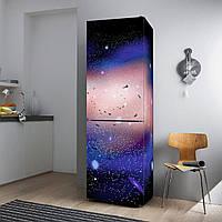 """Виниловая наклейка на холодильник """"Галактика""""."""