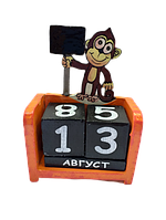 Вечный календарь Обезьянка  размер 15*10*5
