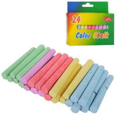 Мел MK 1168 тонкий, 24шт, 7,5см, 84г, цветной, в кор-ке 11,5-11-2см, фото 2