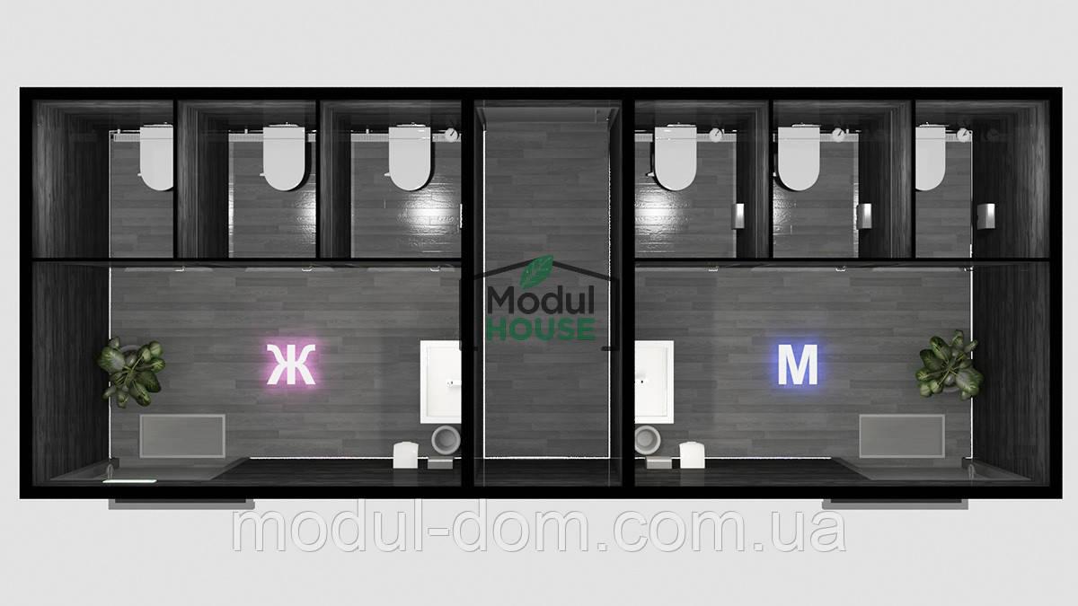 Санитарный модуль с кассой, мобильные санитарные модули