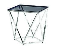 Кофейный стол CP-2 тонированный + серебро