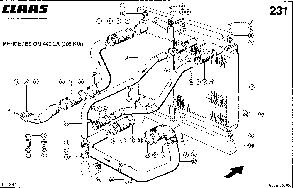 Радиатор водяной для комбайна Jaguar 860, фото 2