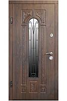 Двери входные  уличные   ПК 139V . Входные двери для частного дома. Входная дверь с ковкой и стеклом