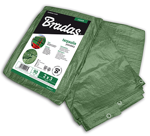 Тент водонепроницаемый 3*3 Bradas Польша Green 90 гр/м² PL903/3