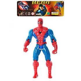 Спайдермен 8077 А-1 фигурка супегероя, 25 см, шарнирные руки и ноги, свет, в кульке