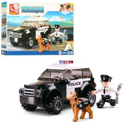 Конструктор SLUBAN M38-B0639 полиция, машина, фигурка, собака, 78дет,в кор-ке 19-14-4,5см, фото 2