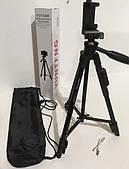 Профессиональный штатив телескопический для камеры и телефона трипод Yunteng VCT-5208 монопод трипод Черный