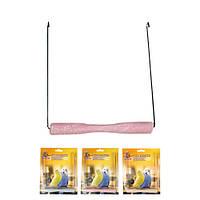 Karlie Flamingo (Карли Фламинго)  Swing Sand Perch игрушка для птиц качели с песчаной жердочкой 14х1,5 см