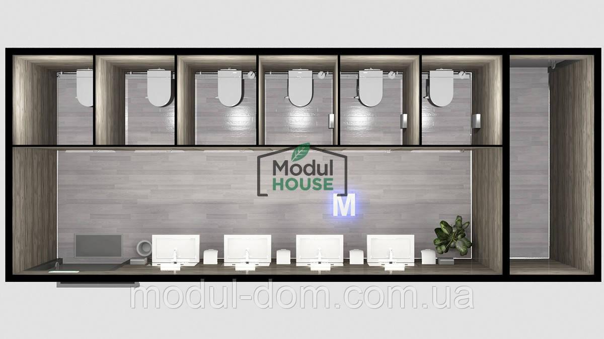 Мобильные душевые модули, модульные санитарные туалеты и душевые