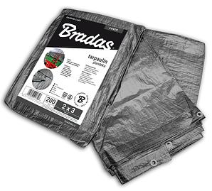 Тент 4*5м тарпаулін Bradas Gray 200г, PLG2004/5