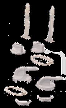 """Кріплення кришки унітазу до унітазу """"СК-М"""" """"КЛЮШКА Овальна"""" (KW 110)"""