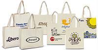 Эко-сумка с логотипом 38х0х41 см, саржа