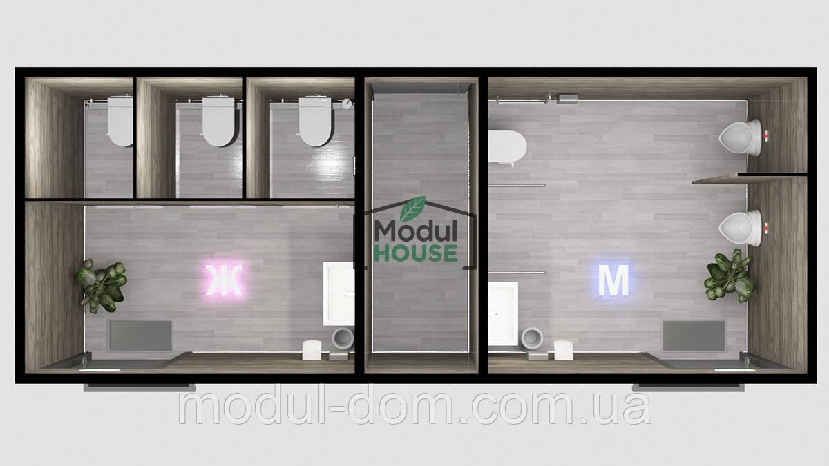 Модульная бытовка с санузлом, санитарные модули цена