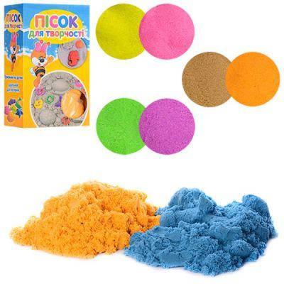 Песок для творчества MK 1270-2 1000г, 2цв(по 500г),микс цветов,в кор-ке 9,5-15,5-6см, фото 2