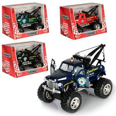 Машинка KT 5333 W инер-я,эвакуатор,14см,1:38, резин. колеса, открыв.двери, 4цв,в кор,15-10,5-9 см, фото 2