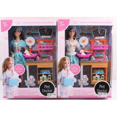 "Кукла ""Доктор"" JX200-17 (36шт/2) 2 вида, мед столик, с аксесс, в кор. 33-7-23 см"