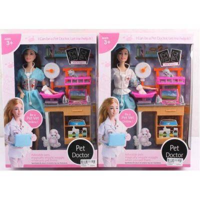"Кукла ""Доктор"" JX200-17 (36шт/2) 2 вида, мед столик, с аксесс, в кор. 33-7-23 см, фото 2"