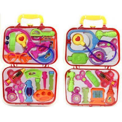 Доктор 616 (48шт/2) 2вида, стетоскоп, монитор, молоток, ножн, ванночки, бутылочки, в чемодан.26*42см, фото 2