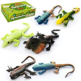 Животное A160-DB ящерица, 27 см, 36 шт (6 видов) в дисплее 30-24 -8 см