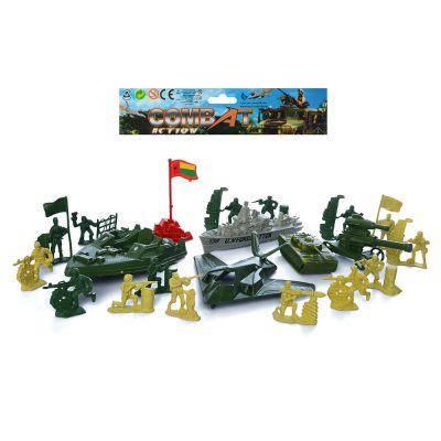 Солдаты в наборах 933-N11 комбат, военная техника, солдатики, в кульке 23,5-18-5см, фото 2