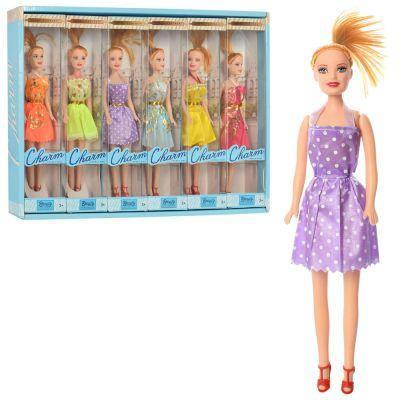 Кукла ZR-660 26 см, 6 шт (6видов) в дисплее 51-35,5-5,5 см ЦЕНА ЗА ДИСПЛЕЙ, фото 2