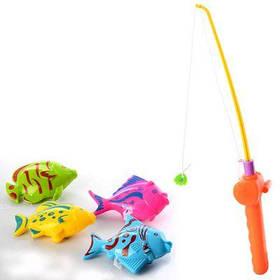 Рыбалка M 2950 удочка с магнитом 30см, рыбки 4шт, в кульке 11-30-4см