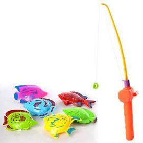 Рыбалка M 2951 удочка с магнитом 30см, рыбки 6шт, в кульке 11-30-4см