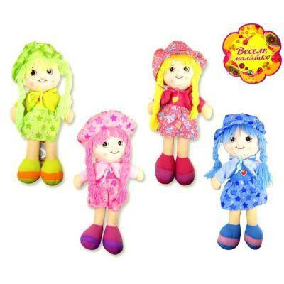 Кукла мягкая CEL-104 (60шт) 4 вида, в пакете 53*20, 5 см, кукла - 45 см, фото 2