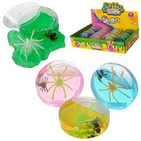 Насекомое 6039C в колбе, паук, лизун, слайм 20 шт (4 цвета) в дисплее 31-19-6,5 см цена за дисплей