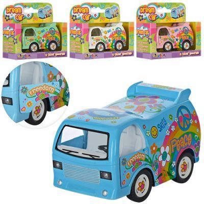Машинка KS 4102 W металл,инер-я, 8,5см, откр.двери, рез.колеса, 4 цвета, в кор-ке 12-10,5-5см, фото 2