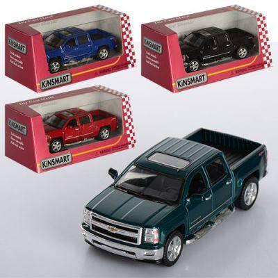Машинка KT 5381 W Chevrolet Silverado металл, инер-я,12,5см,1:46,откр.двери,рез.колеса,4цвета,в кор-ке 16-8-7,5см, фото 2
