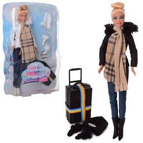 Кукла DEFA 8424-BF 30см, чемодан, 2 вида, в кор-ке 22-33-6 см