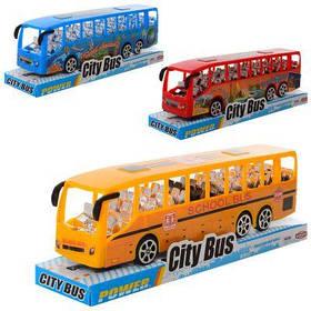 Автобус TQ123-41А-43A инер-й, микс цветов, в слюде 22-6-4,5 см