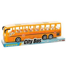 Автобус TQ123-48A инер-й, в слюде 32,5-9,5-7,5 см