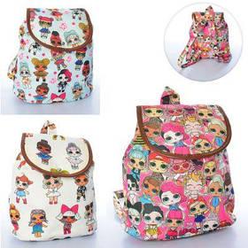Рюкзак MK 2642-5 LOL, размер средний, 29-26-10 см,  микс цветов, в кульке 30-29-2 см