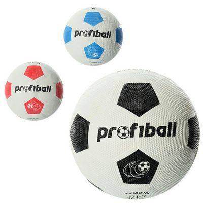 Мяч футбольный VA 0013 размер 5, резина Grain, 350г, Profiball, в кульке, 3 цвета, фото 2