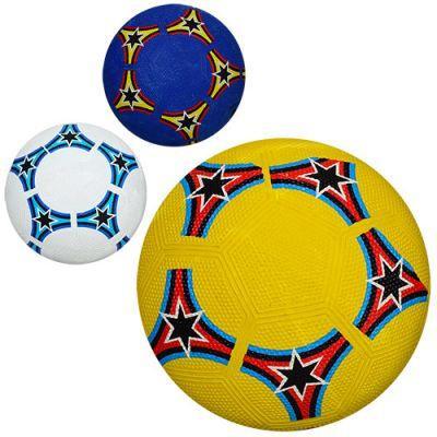 Мяч футбольный VA 0036 размер 5, резина Grain, 350г, 3 цвета, в кульке