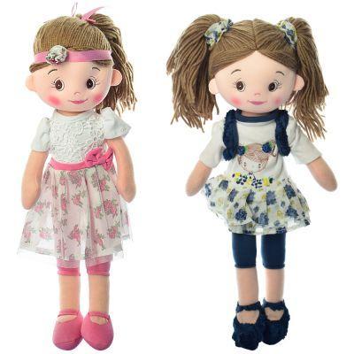 Кукла X13089 мягконабивная, 45 см, 2 вида, в кульке 45-11-8 см