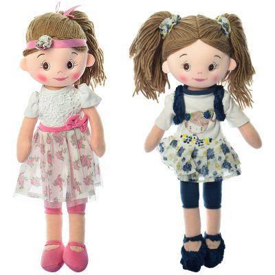 Кукла X13089 мягконабивная, 45 см, 2 вида, в кульке 45-11-8 см, фото 2