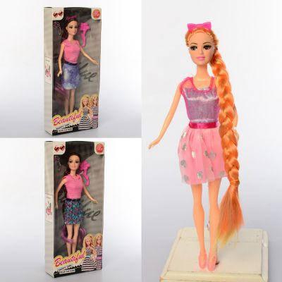 Кукла B909-4 (72шт) 29см, диадема, расческа, микс видов, в кор-ке, 14-33-5см, фото 2