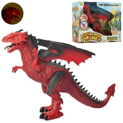 Динозавр RS6153 33см, звук,свет, ходит, на бат-ке, в кор-ке 35,5-29-10см